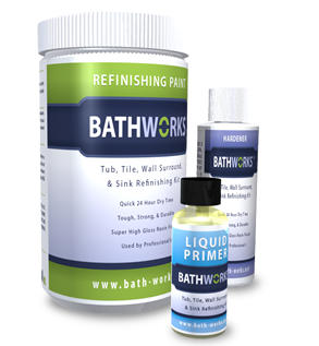 Bathtub Refinishing Kit - Refinishing Paint, Liquid Primer, Hardener